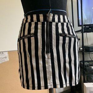 H&M striped mini skirt